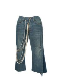 dunkelblauer Hosenrock aus Jeans von Tiger In The Rain