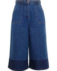 dunkelblauer Hosenrock aus Jeans von Valentino