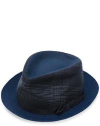dunkelblauer Hut mit Schottenmuster von Etro