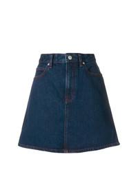 dunkelblauer Jeans A-Linienrock von Calvin Klein Jeans