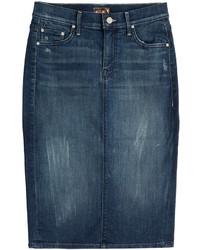 dunkelblauer Jeans Bleistiftrock