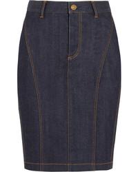 dunkelblauer Jeans Bleistiftrock von Burberry