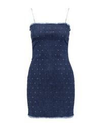 dunkelblauer Jeans Kleiderrock von Jaded London