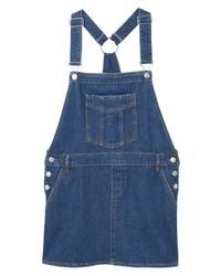dunkelblauer Jeans Kleiderrock von Mango