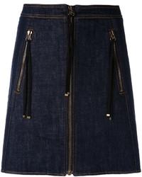 dunkelblauer Jeans Minirock von Kenzo