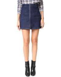 dunkelblauer Jeans Minirock von Madewell