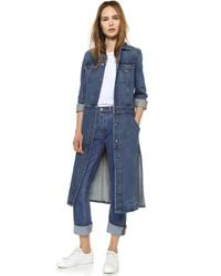Lange jeans mantel damen