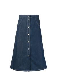 dunkelblauer Jeansrock mit knöpfen von MiH Jeans