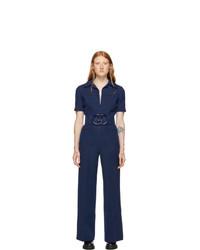 dunkelblauer Jumpsuit von Gucci