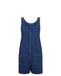 dunkelblauer kurzer Jumpsuit aus Jeans