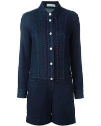 dunkelblauer kurzer Jumpsuit aus Jeans von See by Chloe