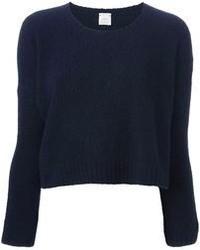 dunkelblauer kurzer Pullover