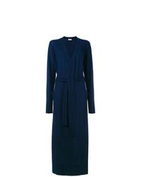 dunkelblauer lange Strickjacke von Le Kasha
