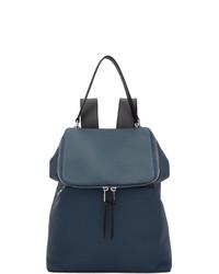 dunkelblauer Leder Rucksack von Loewe