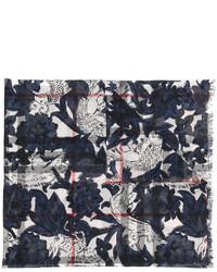 dunkelblauer leichter Schal mit Karomuster von Burberry