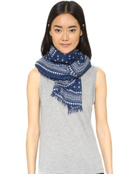 dunkelblauer leichter Schal