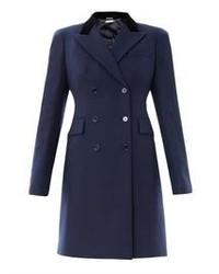 dunkelblauer Mantel