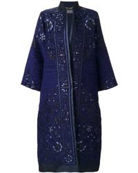 dunkelblauer Mantel von Alberta Ferretti