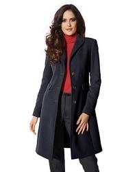 dunkelblauer Mantel von Heine