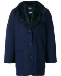 dunkelblauer Mantel von P.A.R.O.S.H.