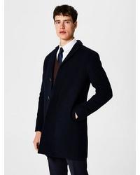 dunkelblauer Mantel von Selected Homme