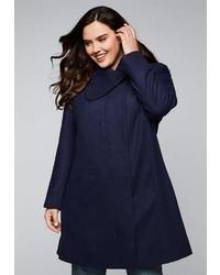 dunkelblauer Mantel von Sheego