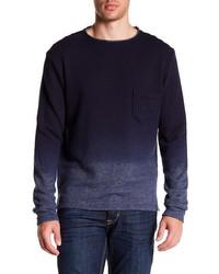 dunkelblauer Ombre Pullover mit einem Rundhalsausschnitt