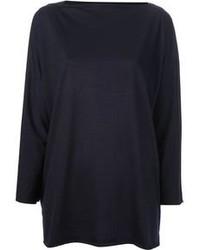 dunkelblauer Oversize Pullover