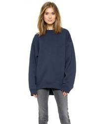 dunkelblauer Oversize Pullover von Acne Studios