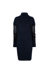 dunkelblauer Oversize Pullover von Maison Margiela