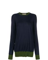 dunkelblauer Oversize Pullover von Marni