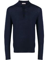 dunkelblauer Polo Pullover