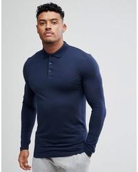 dunkelblauer Polo Pullover von ASOS DESIGN