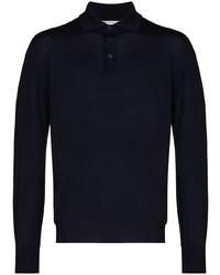 dunkelblauer Polo Pullover von Brunello Cucinelli