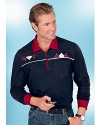 dunkelblauer Polo Pullover von CLASSIC BASICS