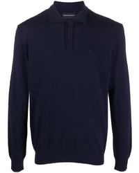 dunkelblauer Polo Pullover von Emporio Armani