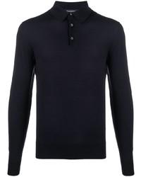 dunkelblauer Polo Pullover von Ermenegildo Zegna