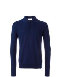 dunkelblauer Polo Pullover von Fashion Clinic Timeless