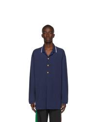 dunkelblauer Polo Pullover von Gucci