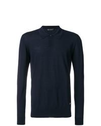 dunkelblauer Polo Pullover von Versace