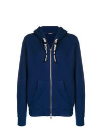 dunkelblauer Pullover mit einem Kapuze von Balmain