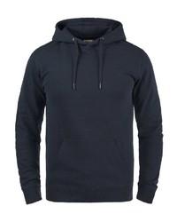 dunkelblauer Pullover mit einem Kapuze von BLEND