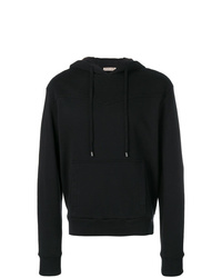 dunkelblauer Pullover mit einem Kapuze von Bottega Veneta