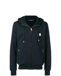 dunkelblauer Pullover mit einem Kapuze von Dolce & Gabbana