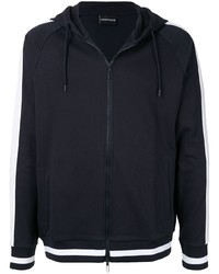 dunkelblauer Pullover mit einem Kapuze von Emporio Armani