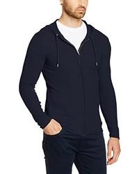 dunkelblauer Pullover mit einem Kapuze von Esprit