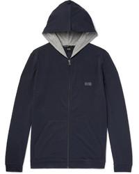 dunkelblauer Pullover mit einem Kapuze von Hugo Boss