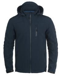 dunkelblauer Pullover mit einem Kapuze von INDICODE
