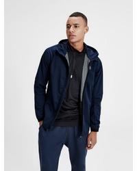 dunkelblauer Pullover mit einem Kapuze von Jack & Jones Tech