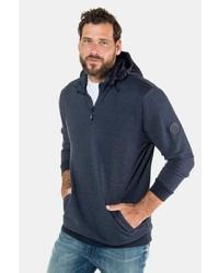 dunkelblauer Pullover mit einem Kapuze von JP1880